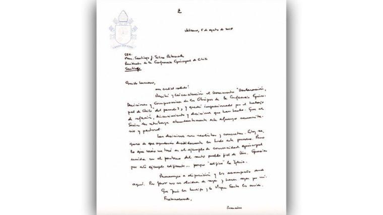 Carta de Francisco a Episcopado chileno